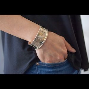 Authentic CHANEL CJ Gold Cuff from 16B Collection